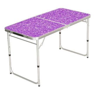 Lila Glitter-LuxusdiamantShine Beer Pong Tisch