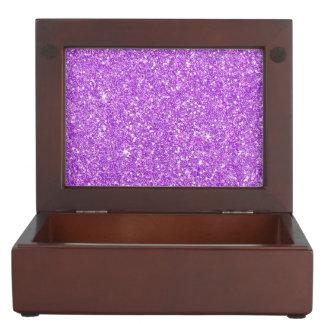 Lila Glitter-LuxusdiamantShine Erinnerungsdose