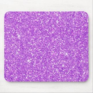 Lila Glittershine-glänzender Luxusdiamant Mousepads