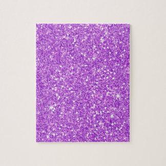 Lila Glittershine-glänzender Luxusdiamant Puzzle