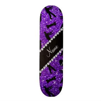 Lila Glitterzombies des Nameindigos Individuelle Skateboarddecks