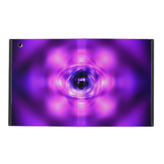 Lila glühendes Atom iPad Etuis