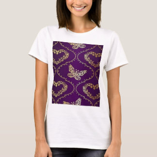 lila Goldherzschmetterling T-Shirt