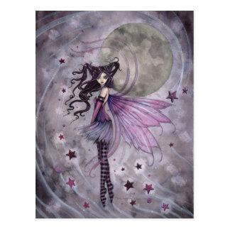 Lila gotische feenhafte Feen-Fantasie-Kunst-Postka Postkarte