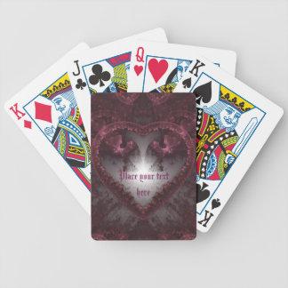 Lila gotisches Herz 001 Bicycle Spielkarten