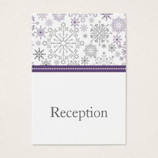 lila graue Schneeflocke-Modwinter Empfangs-Karten Visitenkarte