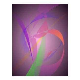 Lila grauer leichter abstrakter Entwurf Bedruckte Flyer