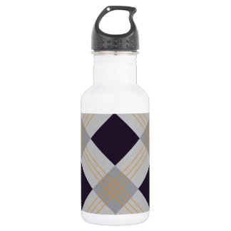 Lila, graues caro geometrisches Halloween Trinkflasche