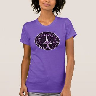 Lila Grundlage für das Antichrist-Symbol T-Shirt