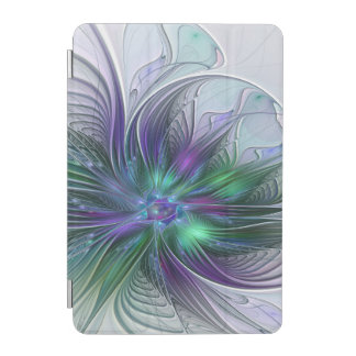 Lila grüne Blumen-modernes abstraktes iPad Mini Hülle