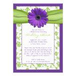 Lila grüne einladungskarte