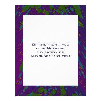 lila grünes abstraktes 21,6 x 27,9 cm flyer