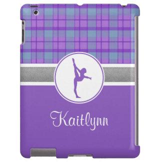 Lila Gymnastik-Schatz karierter iPad Fall iPad Hülle
