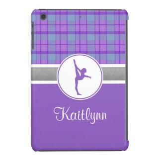 Lila Gymnastik-Schatz kariertes iPad Minifall iPad Mini Retina Schale