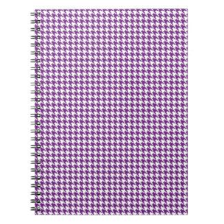 Lila Hahnentrittmuster abstrakt Spiral Notizblock