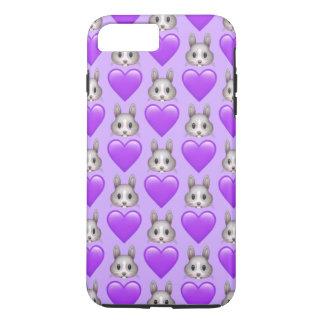 Lila Häschen Emoji iPhone 7 Plustelefon-Kasten iPhone 8 Plus/7 Plus Hülle