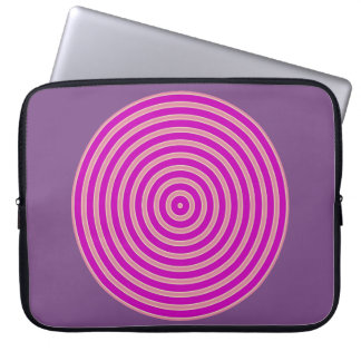 lila hellgelbe Linie Neopren-Laptophülse Laptopschutzhülle