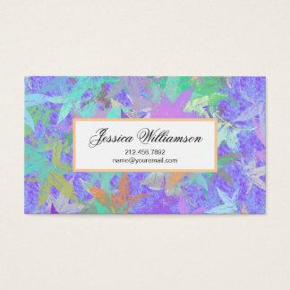 Lila Herbst-Ahorn-PastellBlätter Visitenkarte