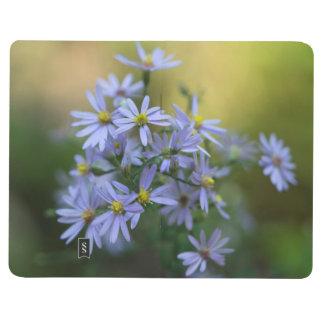Lila Herbst-Aster-Wildblume-Taschen-Zeitschrift Taschennotizbuch