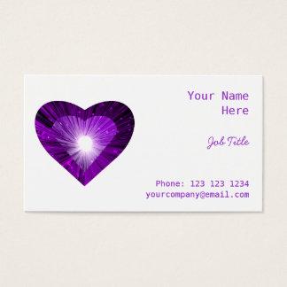 """Lila Herz""""Herz"""" Geschäftskarten-Seitenweiß Visitenkarte"""