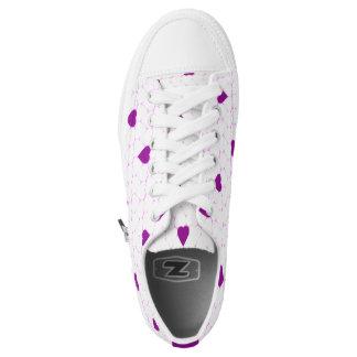 Lila Herz Niedrig-geschnittene Sneaker