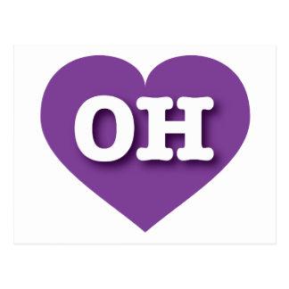 Lila Herz Ohios - große Liebe Postkarte