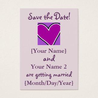 Lila Herz-Save the Date Karten