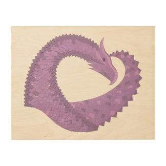 Lila Herzdrache des Lavendels Holzdruck