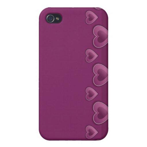 Lila Herzen iPhone 4 Kasten iPhone 4/4S Case