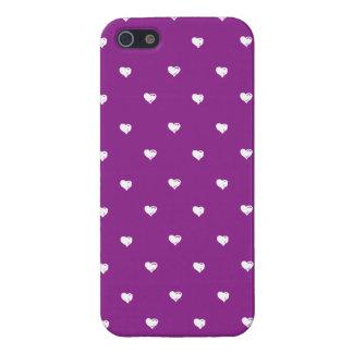 Lila Herzmuster Schutzhülle Fürs iPhone 5