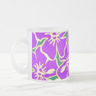 Lila Hibiskus-Blumen tropisches hawaiisches Luau Mattglastasse