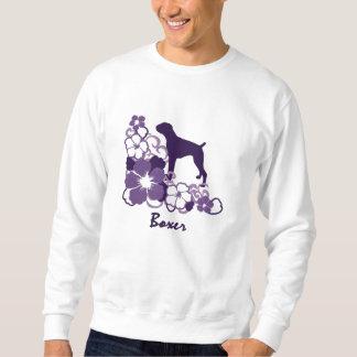Lila Hibiskus-Boxer Sweatshirt