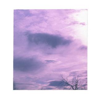 Lila Himmel-Foto Notizblock