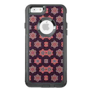 Lila Hintergrund-Vintages Muster mit Blumen OtterBox iPhone 6/6s Hülle
