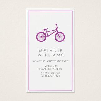 Lila Hipster-Fahrrad Visitenkarte