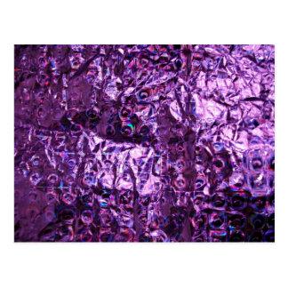 Lila Hologramm-Papier Postkarte