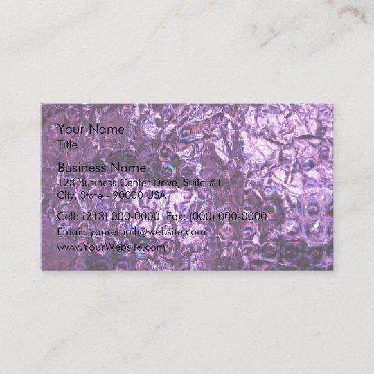 Lila Hologramm Papier Visitenkarte Zazzle De