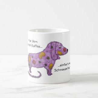 Lila Hund Kaffeetasse