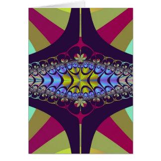 Lila Hundertfüßer-Fraktal Karte