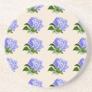 Lila Hydrangea-Blumen-Vintages Muster Untersetzer