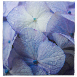 Lila Hydrangea-Blüte mit Blumen Stoffserviette