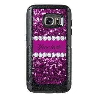 Lila Imitat-Glitter und Diamanten OtterBox Samsung Galaxy S7 Hülle