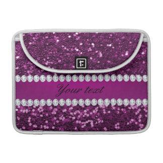 Lila Imitat-Glitter und Diamanten Sleeve Für MacBook Pro