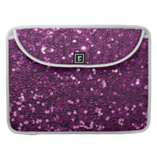 Lila Imitat-Glitzer-Glitzern MacBook Pro Sleeve