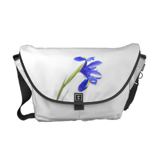 Lila Iris-Blume Kuriertasche
