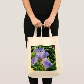 Lila Iris-botanische Taschen-Tasche Tragetasche