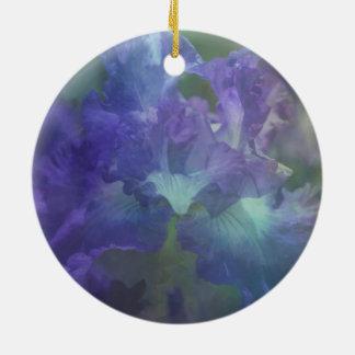 Lila Iris der botanischen Keramik Ornament