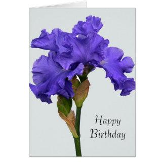 Lila Iris-Geburtstags-Karte Karte