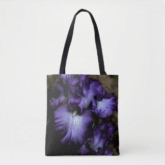 Lila Iris-Kreuz-Körper Tasche