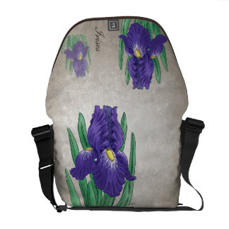 Lila Iris kundengerecht Kuriertasche